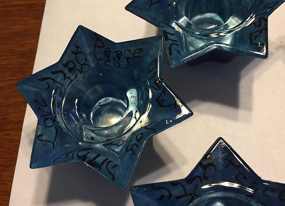 Jewish Star Tea Light/Candle Holders