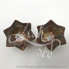 Large Jewish Star Tea Light