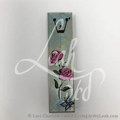 Rose Garden Glass Mezuzah