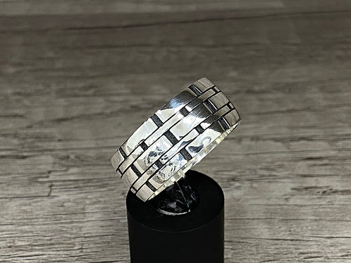 10 mm 925k Solid Sterling Silver  Wedding Band Ring