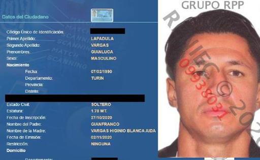 RENIEC: GIANLUCA LAPADULA YA CUENTA CON FICHA EN REGISTRO NACIONAL DE IDENTIFICACIÓN.