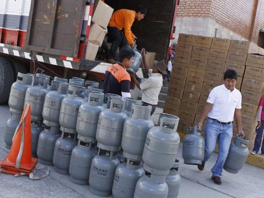 PRECIO DEL BALÓN DE GAS SUBE A S/65 EN DIFERENTES DISTRITOS DEL PAÍS