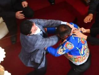 CONGRESISTAS SE AGARRAN A GOLPES EN MEDIO DE INTERPELACIÓN A MINISTRO EN BOLIVIA
