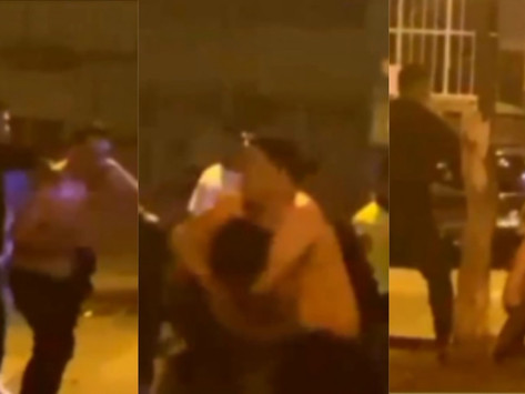 [VIDEO] EBRIOS SE AGARRAN A GOLPES AL SALIR DE DISCOTECA EN CERCADO DE LIMA