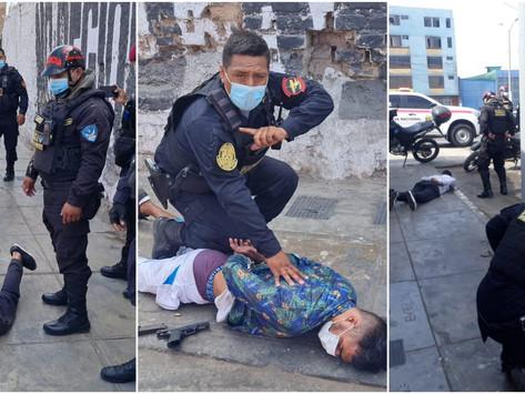 CALLAO: PNP CAPTURA A SICARIOS QUE HIRIERON DE BALA A UNA DE SUS VICTIMAS.