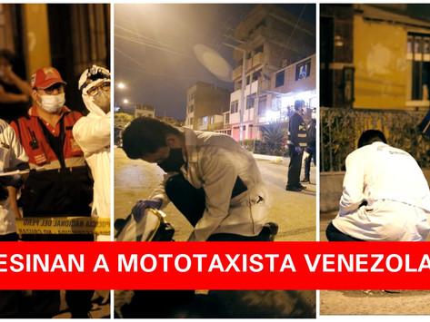 SMP: ASESINAN DE NUEVE BALAZOS A MOTOTAXISTA VENEZOLANO [FOTOS]
