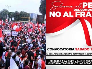 """ORGANIZAN MARCHA """"NO AL FRAUDE"""" ESTE SÁBADO 12 JUNIO, EN CAMPO DE MARTE."""