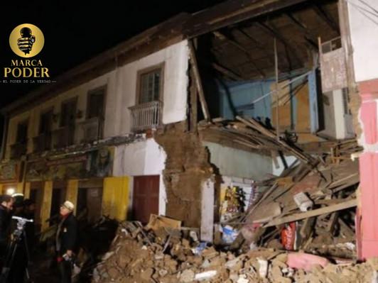 MALA: SIETE HERIDOS TRAS DERRUMBE DE VIVIENDA TRAS SISMO DE 6 GRADOS.