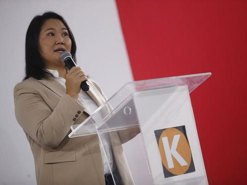 """KEIKO FUJIMORI: """"CASTILLO DEFIENDE A UN MINISTRO ACUSADO DE PARTICIPAR EN ATENTADOS""""."""