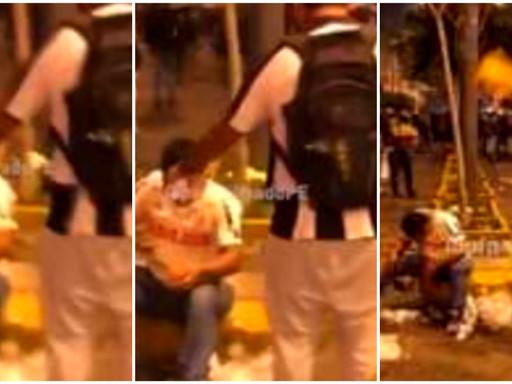 [VIDEO] HINCHA DE ALIANZA LIMA AUXILIÓ A UNO DE UNIVERSITARIO EN MEDIO DE PROTESTAS