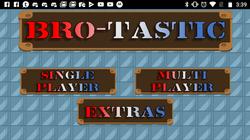 Bro-Tastic Menu