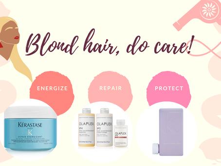 Blond hair, do care !