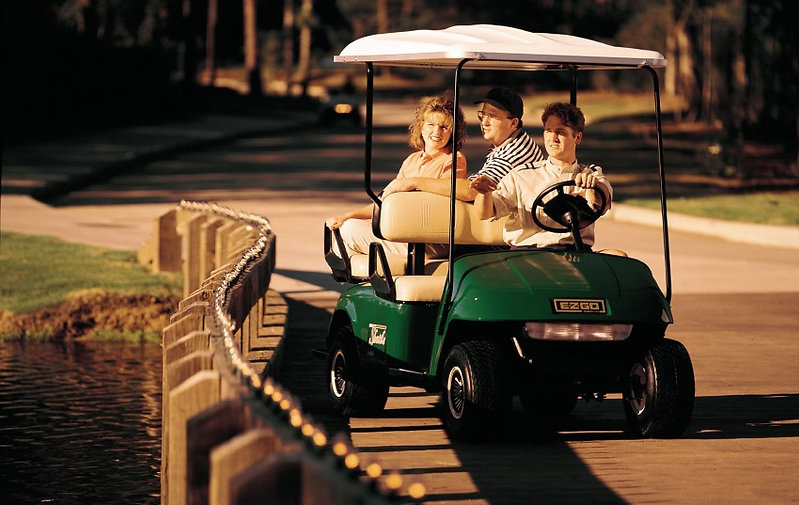 ezgo shuttle 2+2 in action