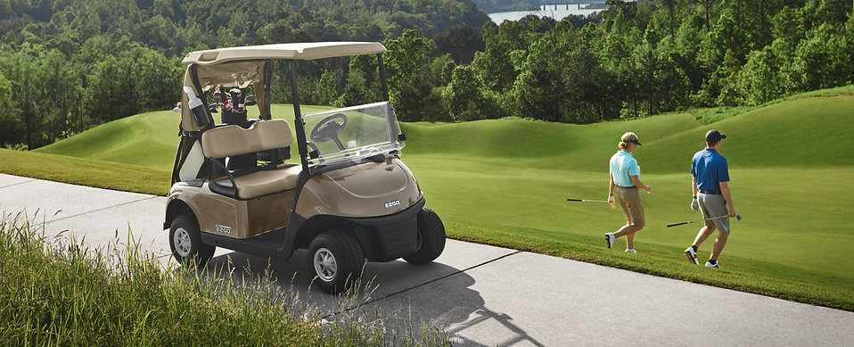 ezgo golf buggy on the course