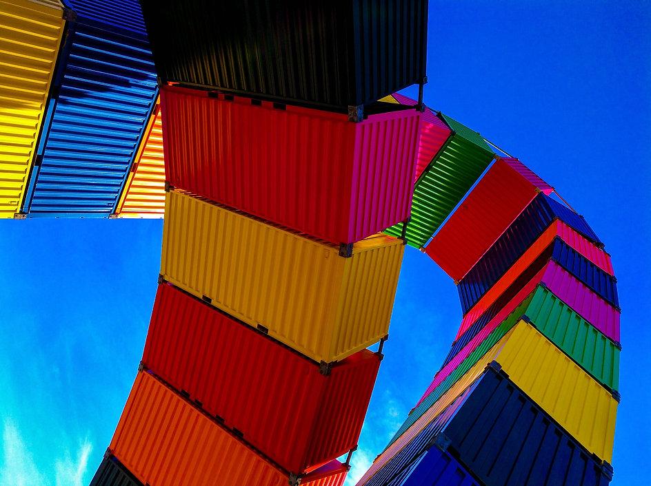 conteneurs multicolores