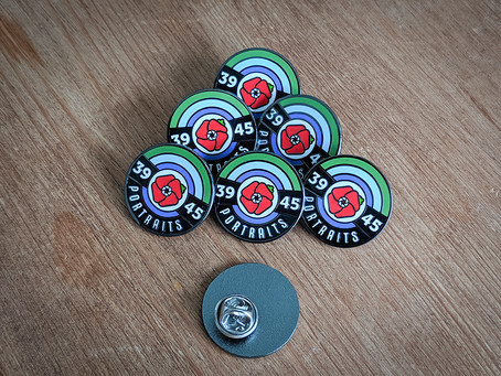 3945 Portraits Pin Badges