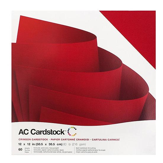 AC Cardstock Color Rojo - AMERICAN CRAFTS