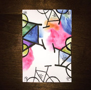 Bicycles__#bicycles #pen #watercolor #ab