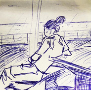 """Crew's Life """"After Lunch 1""""_#sketch #pen"""