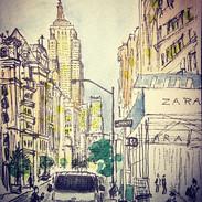 Today's #sketch at #5th #avenue _#empire