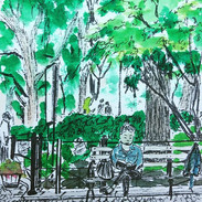 #Sketch _unionsquarepark with a #lady re