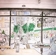 Today's #sketch from #inside a #cafe at
