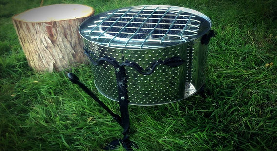 Eco-escape glamping fire pit