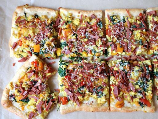 Breakfast Scramble Pizza