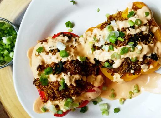Savory Quinoa Stuffed Peppers