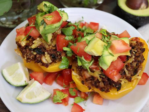 Vegan Taco Stuffed Bell Peppers
