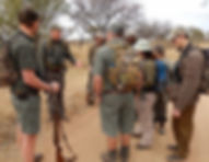 Training walking safari guides in Dinokeng