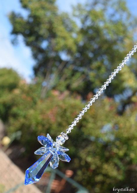 Guardian Angel Baby Boy Blue Window Crystal Car Charm Suncatcher