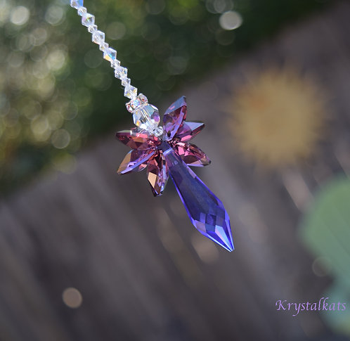 Guardian Purple and Lilac Charmeine Angel of Harmony Suncatcher for Car or Home
