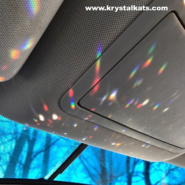 Rainbows from Krystalkats Crystal Suncatchers