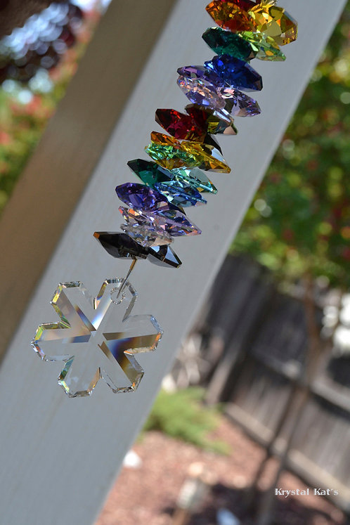 Rainbow Maker Snowflake Suncatcher Window Crystal Car Charm