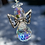 Thumbnail: Rainbow Teardrop Guardian Angel Rearview Mirror Swarovski Crystal Suncatcher