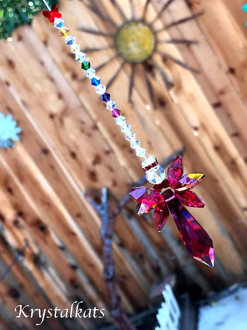 Christmas Angel Joyful, Valentine's Day Day Car Charm, Window Crystal Suncatcher
