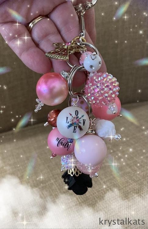 Angel Love Faith Bubblegum Bead, Rainbow Crystals Suncatcher, Mom Gift