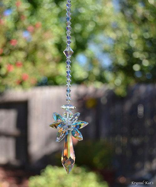 Crystal AB Guardian Angel of Hope Window Crystal Car/Home Charm Suncatcher