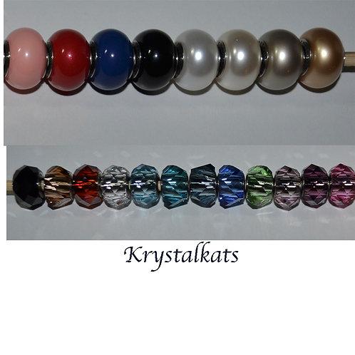 Swarovski Crystal Large Hole Beads Add A Bead Bracelets Fits Famous Maker Brands