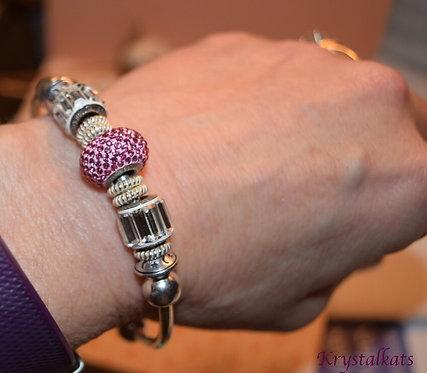 Large Hole Swarovski Crystal BeCharmed Birthstone Favorite Color Bracelets
