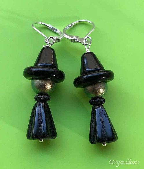 Cute Halloween Witch Earrings, October Wardrobe, Fun Earrings, Witchy Earrings