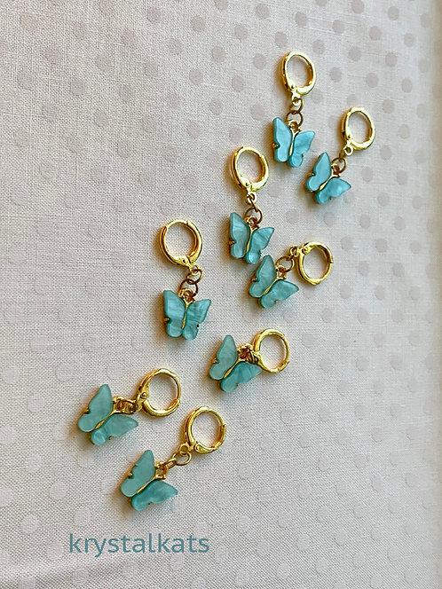 Pretty Blue Mariposa Butterfly Earrings Buy 2 Discount