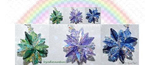 Rainbow Starburst Suncatcher Car Charm, Window Crystal, Rearview Mirror Ornament