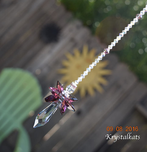 Lilac Guardian Caelia Angel Winged Home/Car Window Crystal Suncatcher