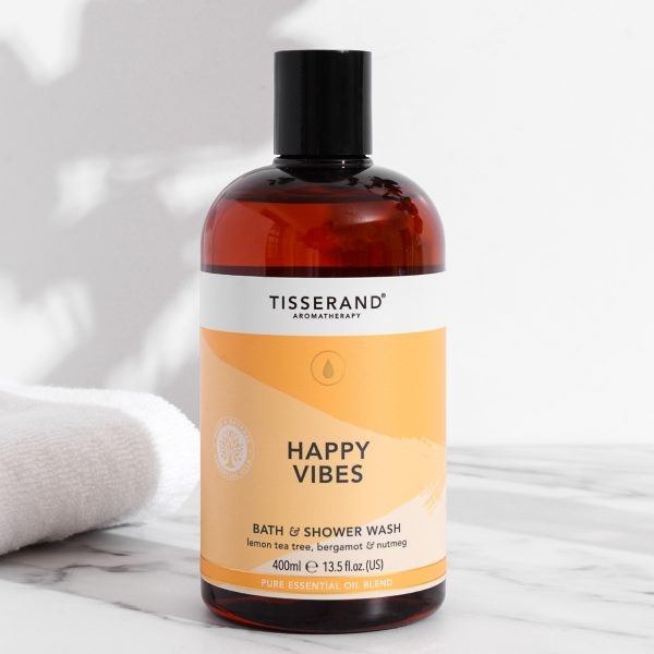 Why You Should Start Every Day With An Aromatherapy Shower - Tisserand Happy Vibes Bath and Shower Wash