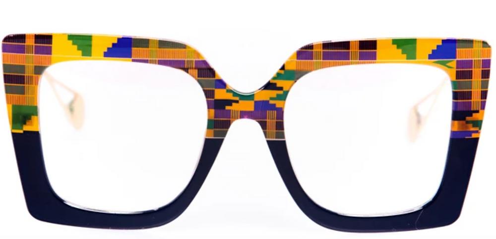 Tribal Eyes Kente Eye Glasses (Model: Badu)