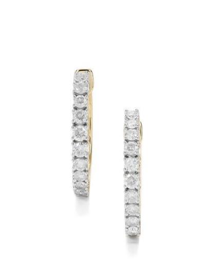 Gemporia 3/4CT Diamond 9K Gold Earrings