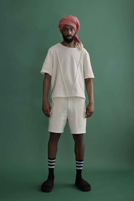 Line Tee  & Diamond Pocket Shorts