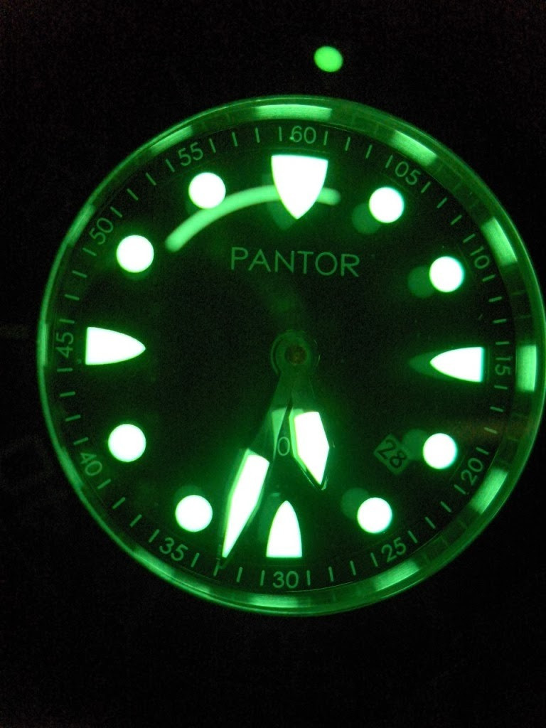 Dive watch with luminous